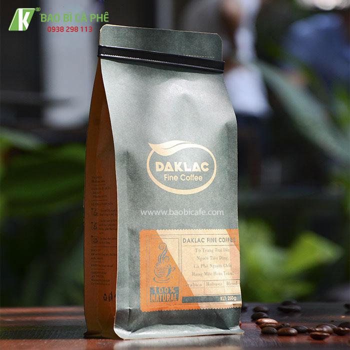 Bao bì cà phê 8 cạnh Daklac
